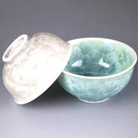 京焼 清水焼 花結晶夫婦茶碗 緑茶 陶あん