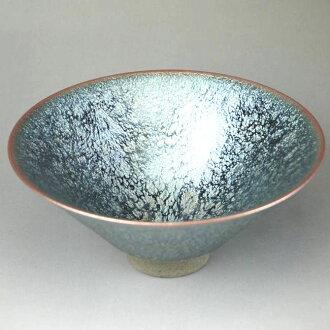 Shimizu ware tenmoku tea bowl Hashimoto Daisuke A pattern
