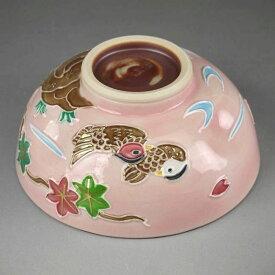京焼 清水焼 おしどり雲錦小茶碗 昇峰