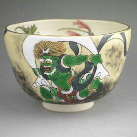 京焼 清水焼 抱一写風神・秋草図抹茶茶碗 善昇