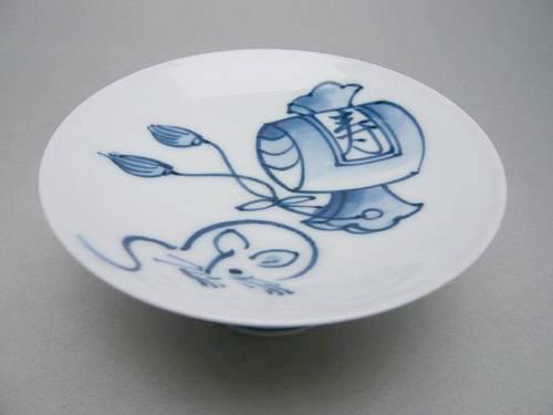 京焼 清水焼 干支子(ねずみ)大盃