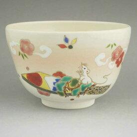 京焼 清水焼 干支子ねずみ羽子板抹茶茶碗 香菊