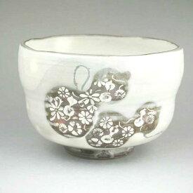 京焼 清水焼 粉引六瓢抹茶茶碗 清泉