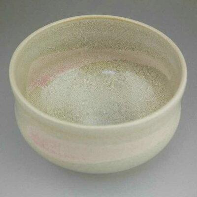【京焼清水焼】ピンク刷毛目抹茶碗