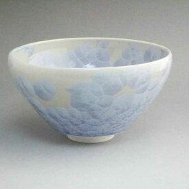 京焼 清水焼 花結晶抹茶茶碗 陶あん 銀藤