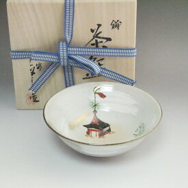 京焼 清水焼 平茶碗 祇園祭 (与し三)