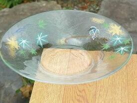京焼 清水焼 カワセミ七寸ガラス浅鉢