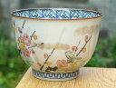 京焼 清水焼 彩花鳥お茶呑茶碗 梅単品