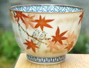 京焼 清水焼 彩花鳥お茶呑茶碗 紅葉単品