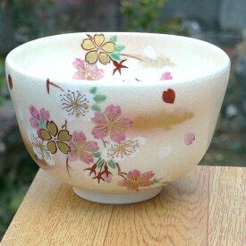 京焼 清水焼 仁清花桜抹茶茶碗 桜谷