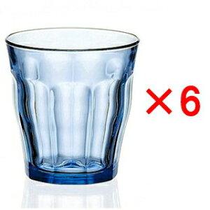 (6個販売) DURALEX(デュラレックス)ピカルディマリン 310ml /全面物理強化ガラス グラス タンブラー コップ おしゃれ 定番 カフェ 水飲みグラス ソフトドリンク 食洗機対応 青 ブルー 丈夫 頑