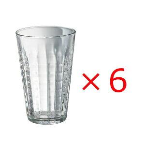 (6個販売) DURALEX(デュラレックス)プリズム クリア 330ml /全面物理強化ガラス グラス タンブラー コップ おしゃれ 定番 カフェ 水飲みグラス ソフトドリンク 食洗機対応 カフェグラス 定番