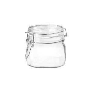 ボルミオリロッコ ガラス フィドジャー 0.5L /保存容器 パッキン付き 密閉 梅酒 自家製梅酒 手作りジャム 塩 オイル ビネガー 調味料 スパイス 紅茶 珈琲豆 小麦粉 強力粉 薄力粉 酵母 昆布 椎