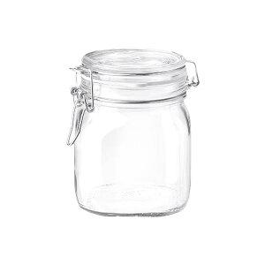 ボルミオリロッコ ガラス フィドジャー 0.75L /保存容器 パッキン付き 密閉 梅酒 自家製梅酒 手作りジャム 塩 オイル ビネガー 調味料 スパイス 紅茶 珈琲豆 小麦粉 強力粉 薄力粉 酵母 昆布 椎