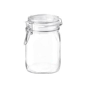 ボルミオリロッコ ガラス フィドジャー 1.0L /保存容器 パッキン付き 密閉 梅酒 自家製梅酒 手作りジャム 塩 オイル ビネガー 調味料 スパイス 紅茶 珈琲豆 小麦粉 強力粉 薄力粉 酵母 昆布 椎