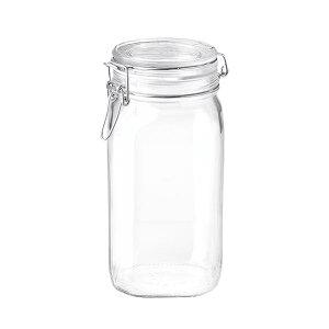 ボルミオリロッコ ガラス フィドジャー 1.5L /保存容器 パッキン付き 密閉 梅酒 自家製梅酒 手作りジャム 塩 オイル ビネガー 調味料 スパイス 紅茶 珈琲豆 小麦粉 強力粉 薄力粉 酵母 昆布 椎