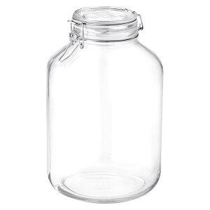 ボルミオリロッコ ガラス フィドジャー 5.0L /保存容器 パッキン付き 密閉瓶 梅酒 自家製梅酒 手作りジャム 塩 オイル ビネガー 調味料 スパイス 紅茶 珈琲豆 小麦粉 強力粉 薄力粉 酵母 昆布