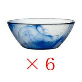 ムラノ(murano) ボウル 14cm (6個入り)/ボルミオリロッコ Bormioli Rocco ガラス ブルー 青 藍 お洒落 おしゃれ 琉球グラス風 手作り風 てびねり風 インテリア おもてなし ゲスト用 家庭用 業務用 御祝 誕生日祝い 新築祝い ギフト プレゼント SSK12