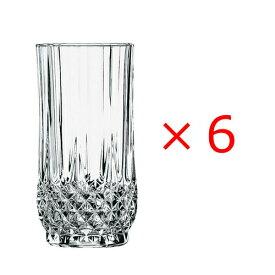 (6個販売) CRISTAL DARQUES(クリスタルダルク)ロンシャン ハイボール 360エレガント 上品 煌びやか グラス ハイボール パーティー おもてなし 誕生日 御祝 結婚祝い ギフト プレゼント SSK14
