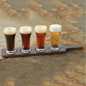 Libbey (リビー) クラフトビア飲み比べセット (ビアフライトセット)Libbey craft brews beer flight 5-pieces set ガラス クラフトビアグラス 台座付き IPA スタウト ウィート ピルスナー 箱付き 御祝 開店祝い ギフト プレゼント SSK18