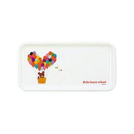 くまのがっこう 長角トレイ /お子様食器 子供食器 幼児食器 お子様プレート メラミン食器 プラスチック食器 割れない 安心 安全 キャラクター 可愛い ジャッキー 食洗機対応 業務用 保育園 幼稚園 小学校 シンプル 定番 ロングセラー ギフト プレゼント SSK12 SSK28