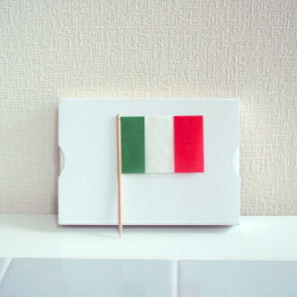 Perfect for the dinner menu for children! Lunch flag Italy (200 PCs) flag toothpick / world flag and Olympic Games