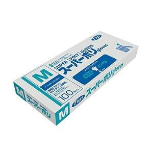 FUJINAP (フジナップ) フジスーパーポリグローブ M (100枚入) 業務用 /ポリ手袋 衛生的 介護 髪染め ペンキ塗り 薬品 エンボス加工 使い捨て 定番 ロングセラー 丈夫 消耗品 食品衛生法適合 清潔