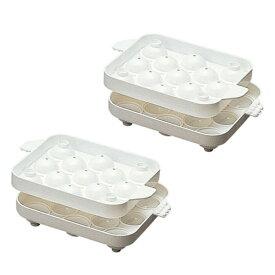 製氷器 まるまる氷 小 (2個組) /直径2.5cm 丸型 製氷皿 アイスボール 13個取り ボール型 かわいい 自家製アイスの実 ボールアイス カラフルアイス ジュースアイス お子様 お菓子 楽しい アイストレー トレイ mまる氷 こおり ボウル型 ギフト プレゼント