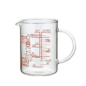 イワキ(iwaki) レンジメジャーカップ 200ml ガラス 計量カップ 目盛り付き ロングセラー 定番 家庭用 調理用具 キッチンツール 下ごしらえ 製菓道具 お菓子作り 量り シンプル 電子レンジ対応