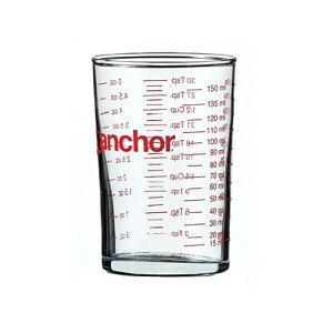 アンカーホッキング Fire King (ファイヤーキング) 耐熱ガラス製 メジャリンググラス 180ml/Anchor Hocking 計量カップ 丈夫 頑丈 調理用具 キッチンツール 水マス 電子レンジ対応 熱湯対応 目盛り付