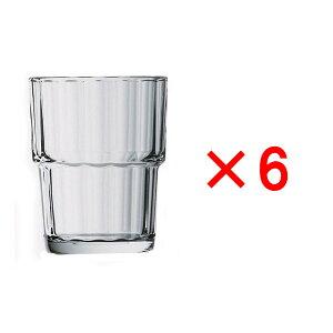 (6ヶセット)アルコロック ノルベージュ(NORVEGE) 160TB /タンブラー コップ 強化グラス ガラス製 業務用 定番 水飲みグラス 麦茶 冷茶 ソフトドリンク 普段使い カフェ レストラン ラーメン屋