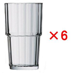 (6ヶセット)アルコロック ノルベージュ(NORVEGE) 320TB /タンブラー コップ 強化グラス ガラス製 業務用 定番 水飲みグラス 麦茶 冷茶 ソフトドリンク 普段使い カフェ レストラン ラーメン屋
