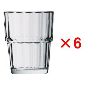 (6ヶセット)アルコロック ノルベージュ(NORVEGE) 250TB /タンブラー コップ 強化グラス ガラス製 業務用 定番 水飲みグラス 麦茶 冷茶 ソフトドリンク 普段使い カフェ レストラン ラーメン屋