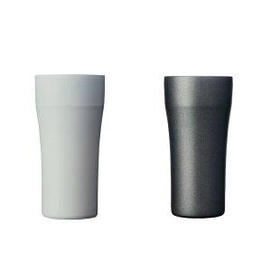 京セラ (KYOCERA) セラブリッドタンブラー 420ml /真空二重構造 保温 保冷 グラス コップ 陶器風 真空断熱タンブラー 結露しにくい おしゃれ スタイリッシュ モノトーン 白 黒 ホワイト ブラック