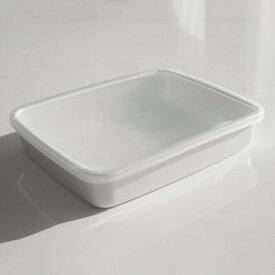 野田琺瑯 ホワイトシリーズ(White Series)保存容器 レクタングル浅型L シール蓋付きギフト プレゼント SSK25