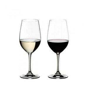 【日本正規品】リーデル RIEDEL ヴィノム vinum ジンファンデル/リースリング・グラン・クリュ(ペアセット)/ドイツ製 クリスタル 高品質 赤白兼用 ロングセラー 箱入り 2個販売 御祝 結婚祝い