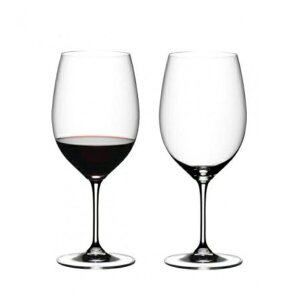 【日本正規品】リーデル RIEDEL ヴィノム vinum カベルネ・ソーヴィニヨン/メルロ ボルドー (ペアセット) /ドイツ製 クリスタル 高品質 赤ワイン ロングセラー 箱入り 2個販売 御祝 結婚祝い 開