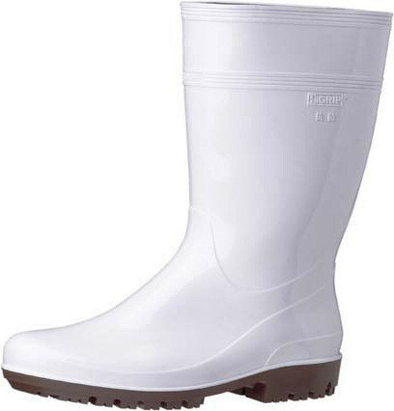 [TKG16-1306] ミドリ安全ハイグリップ長靴HG2000N 25.5cmホワイト
