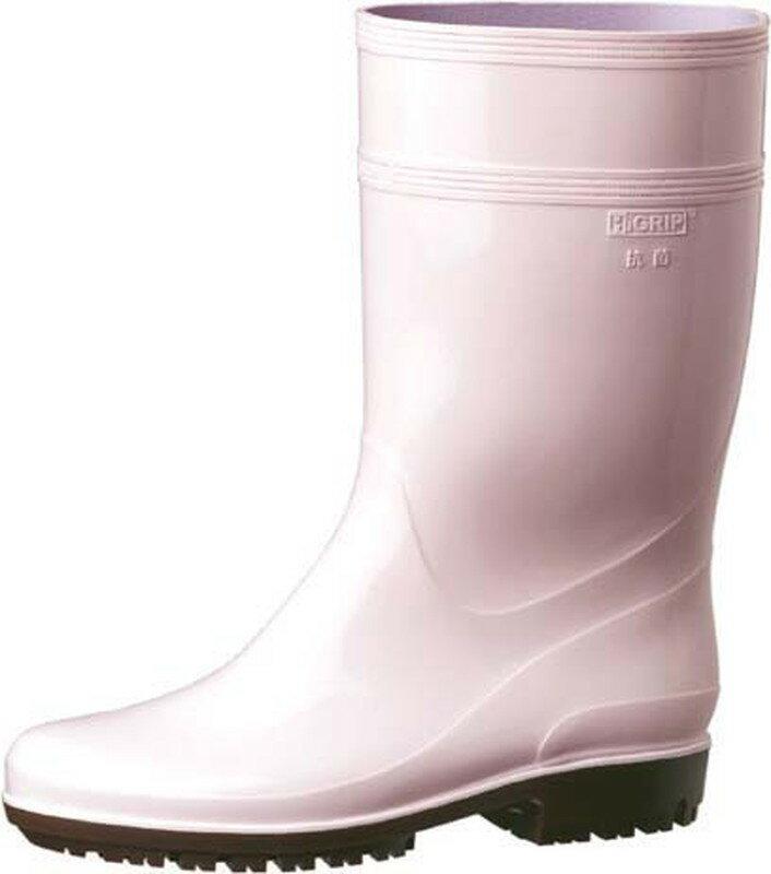 [TKG16-1306] ミドリ安全ハイグリップ長靴HG2000N 25.5cmピンク