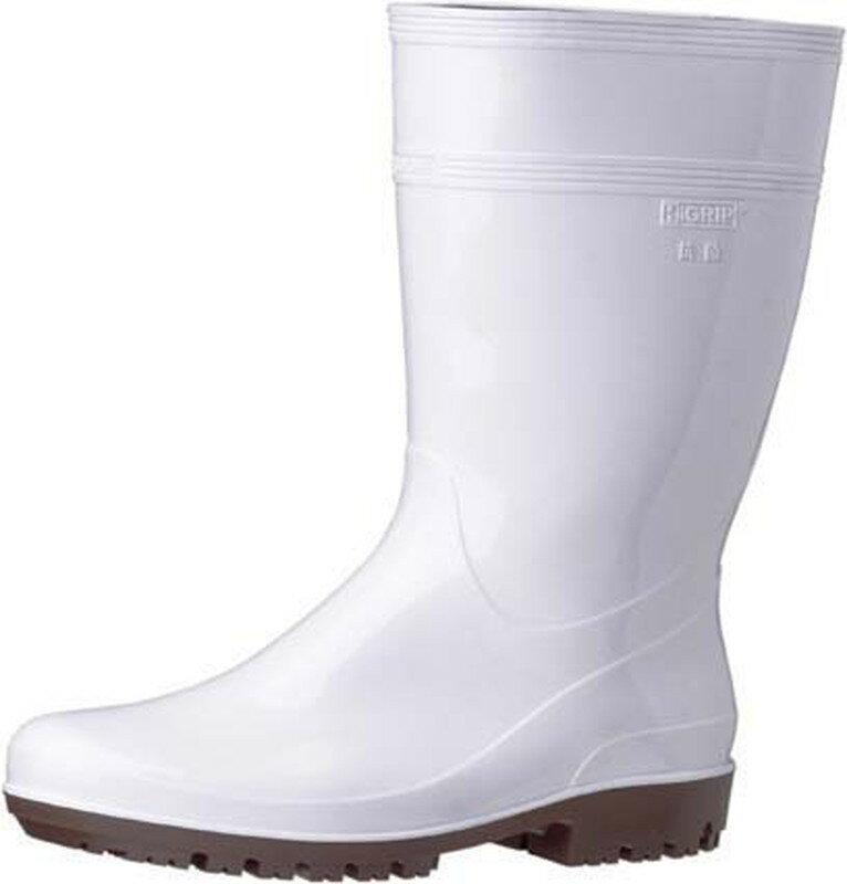 [TKG16-1306] ミドリ安全ハイグリップ長靴HG2000N 28cmホワイト