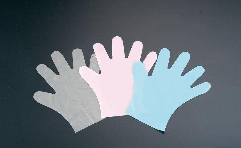 [TKG16-1318] ダンロップポリエチレン手袋(100枚入) PD−110ピンクS