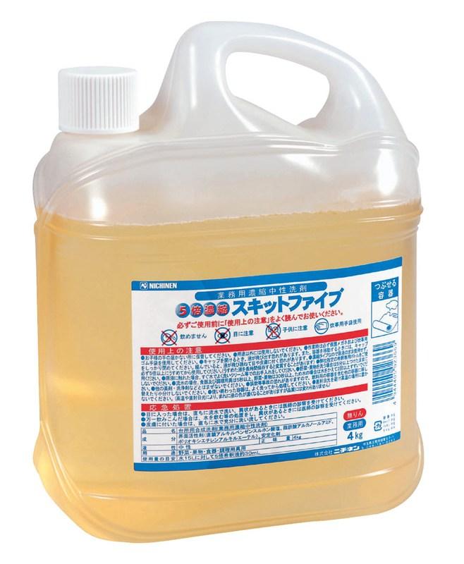 [TKG16-1178] ニチネン スキットファイブ 4kg(濃縮中性洗剤)