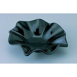 日本製 灰皿 フラワー(L)BK ガラス製品 ガラス 業務用 dg-745
