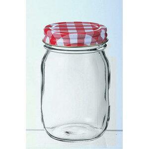 日本製 保存容器 保存ビン 調味料 ジャム チェックボトル 370 24個入 ガラス製品 ガラス(フタ:スティール パッキン:ポリエチレン) 業務用 dg-872