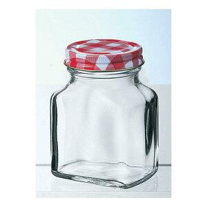 日本製 保存容器 保存ビン 調味料 ジャム チェックボトル 平角200 72個入 ガラス製品 ガラス(フタ:スティール パッキン:ポリエチレン) 業務用 dg-878