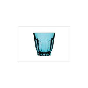 日本製 タンブラー コップ アルカード4 アクアブルー 6個入 水 カクテル ガラス 業務用 di-4547