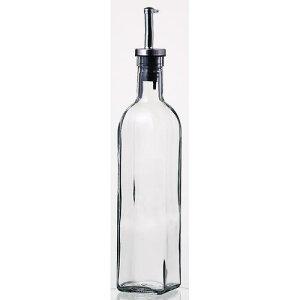 保存容器 ディスペンサー オリーブオイル ドレッシング オイルボトル500ml オイル/ヴィネガー8041 1本 ガラス製品 ガラス(ノズル部分:ステンレススティール+シリコン) 業務用 sg-2628