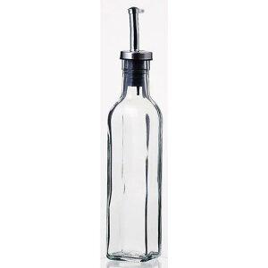 保存容器 ディスペンサー オリーブオイル ドレッシング オイルボトル250ml オイル/ヴィネガー8042 1本 ガラス製品 ガラス(ノズル部分:ステンレススティール+シリコン) 業務用 sg-2629