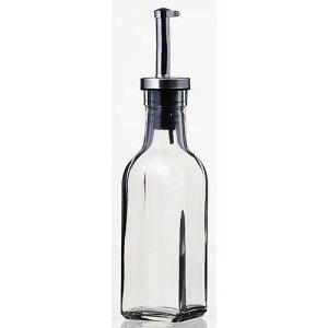 保存容器 ディスペンサー オリーブオイル ドレッシング オイルボトル150ml オイル/ヴィネガー8043 1本 ガラス製品 ガラス(ノズル部分:ステンレススティール+シリコン) 業務用 sg-2903