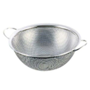 日本製 ボール ザル 漬物 米びつ 水切り 野菜洗い UK18-8 手付きパンチボール 30cm パンチングざる 料理道具 18-8ステンレス 業務用 8-0253-1206